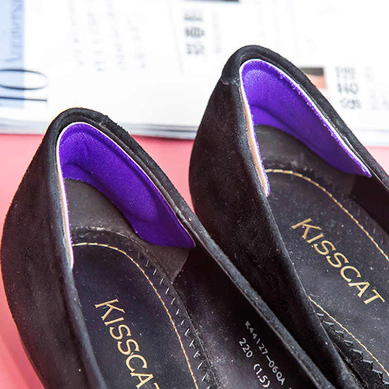 1Pair ผ้าเหนียวรองเท้ากลับส้น Inserts Insoles Pads Cushion Liner Grips คุณภาพสูง Braces & รองรับ