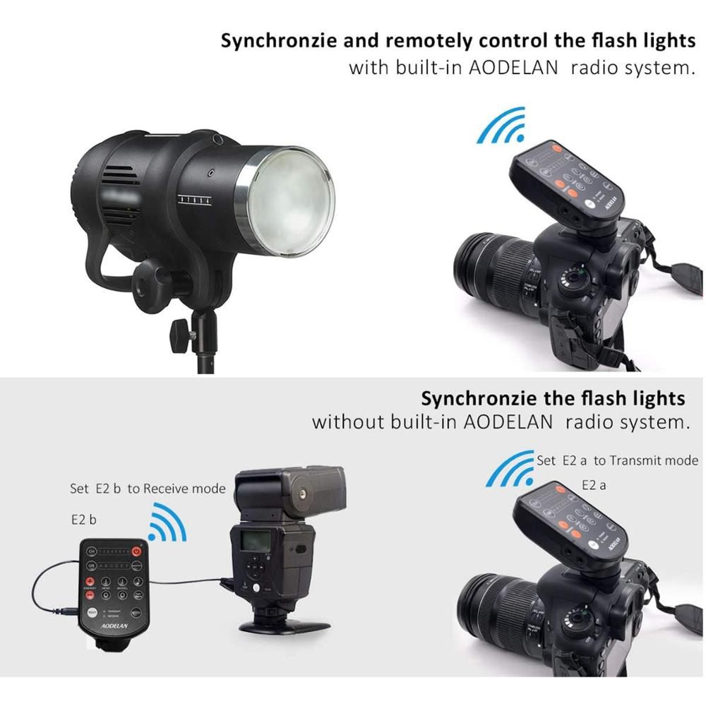 B2 Sony Suitable for Cameras with Hot Shoes D2 Aodelan Wireless Flash Trigger for Profoto A1 Olympus Canon Nikon B10