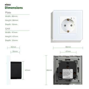 Image 5 - BSEED Wifi розетка стандарта ЕС умная розетка WIFI розетка белого, черного и золотого цвета 86*86 мм умный Wifi переключатель мониторинга