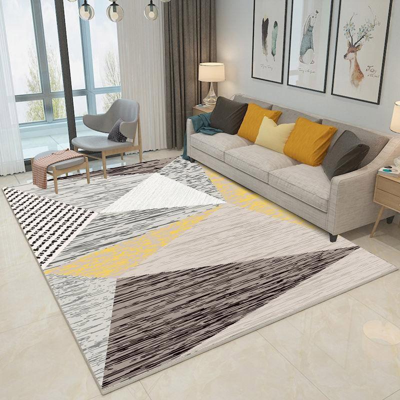 Living Room Carpet 3D Printed Carpet Polyester Bedroom Living Room Sofa Rug Table Yoga Mat Decorative Carpet Mat Gray Alfombra