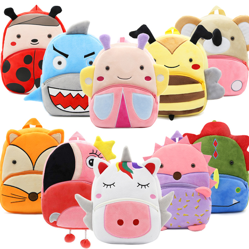 3D Cartoon Plush Children School Bags Kindergarten Backpacks Animal Kids Backpack Children Schoolbag Girls Boys Backpacks