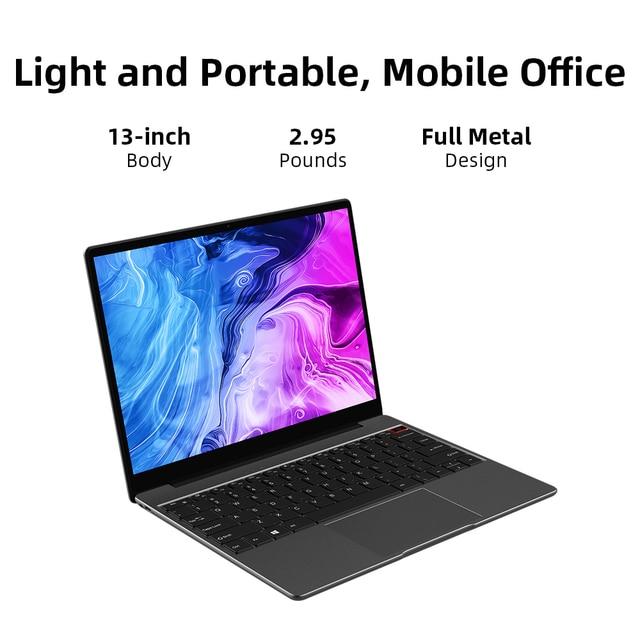 "CHUWI CoreBook Pro Intel Core i3 Laptops 13"" 2160*1440 IPS Screen 8GB RAM 256GB SSD NoteBook with Backlit Keyboard 2.4G/5G Wifi 6"