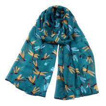 170*85CM dragonfly Pattern women Scarves Long Warm scarf  Cotton viscose Shawl lady Scarf skinny autumn head cape