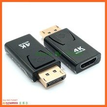 4K Display Port DP Male To HDMI-compatible Female Adapter Black High Quality Dp To Hdmi Converter For HDTV PC