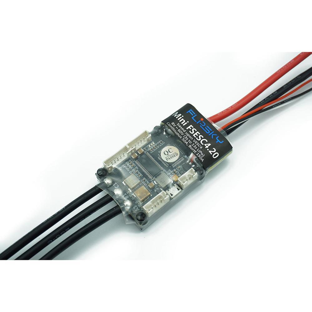 Contrôleur de vitesse électrique pour planche à roulettes Mini FSESC4.20 50A base sur VESC®4.12 avec dissipateur de chaleur anodisé en aluminium 12s esc