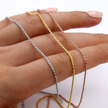 MIQIAO 925 Sterling Silver Rope Chain Platinum Rose Gold Color Long 40 45 50 55 60 65 70 80 CM Wide 1.0 1.5 2.3 MM Necklace Men