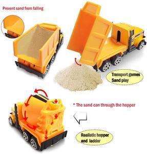 Image 4 - Coolplay mini liga diecast carro modelo de engenharia veículos de brinquedo caminhão basculante empilhadeira escavadeira modelo de carro mini presente para crianças meninos