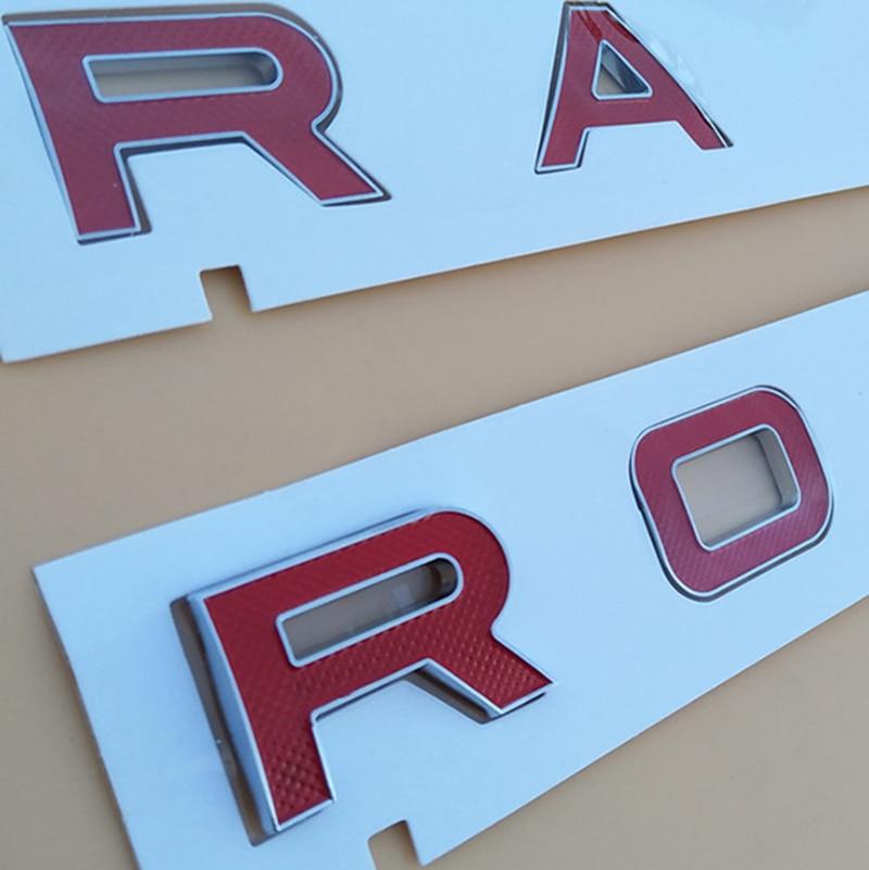 Grid Red Letter Trunk Badge Emblem Decal Letters Sticker For RANGE ROVER