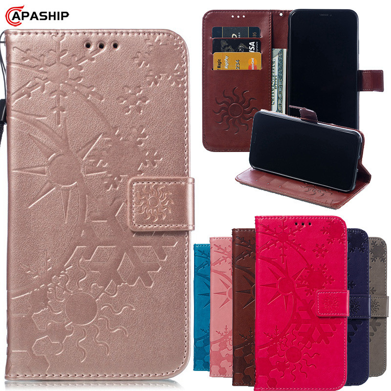 Flower Leather Flip Case For Samsung J2 Pro J3 J5 J7 2016 2017 Prime A3 A5 2015 A8 Plus G530 G360 Cover Plain Wallet Phone Cases image