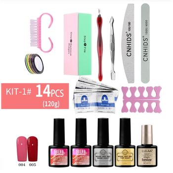 Nail Set UV LED Lamp Dryer With 14/18pcs Nail Gel Polish Kit Soak Off Manicure Tools Set electric Nail drill For Nail Tools 3