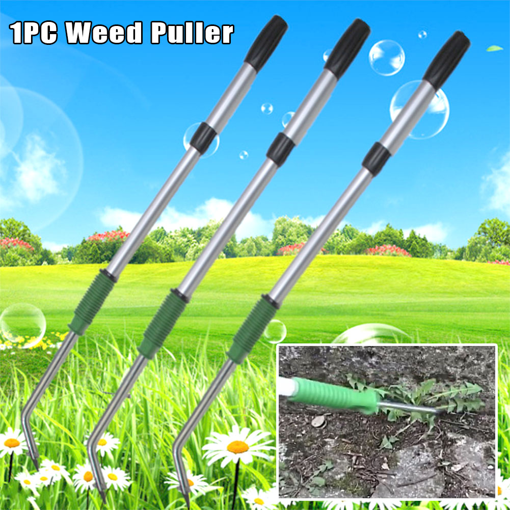 Outdoor Weed Puller Garden Lawn Root Remover Handheld Stretch Killer Tool Claw Weeder Stand Up Aluminum Alloy Lightweight Manual