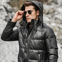Geunine Leather Jacket Sheepskin Men Plus Size Duck Down Winter Coat for Mens Clothing Casacos 264 YY878