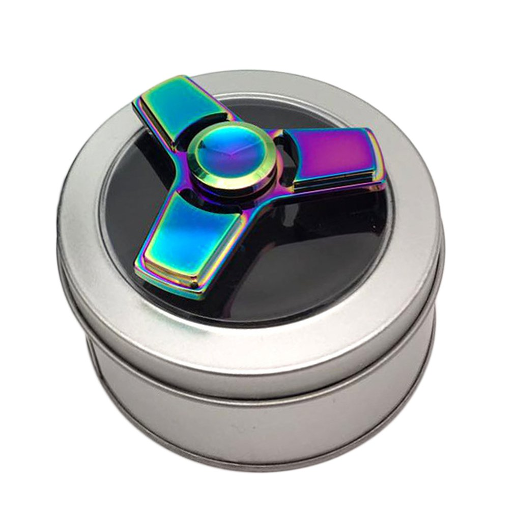 Spinner Flexible Hand Spinner Bearing Desk Toy Colorful Fingertip Helps Focusing For Kids & Adults-Best Stress Reducer