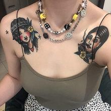 Smiley Traurig Anhnger Kette Ausdruck Hip Hop Farbe Harajuku Halskette Fr Frauen Mnner Schmuck