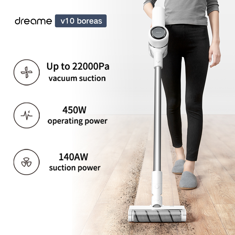 Dreame V10 Handheld Wireless Vacuum Cleaner Portable Cordless Cyclone Filter Carpet Dust Collector Carpet Sweep Home