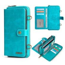 삼성 Galaxy Note 20 용 분리형 지갑 휴대 전화 케이스 Ultra Note 10 9 M21 M30S M31 S10 Plus S20 Fe A20E A21S A51 A71 5G 케이스