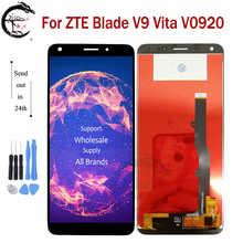"""5.45 """"جديد LCD ل ZTE بليد V9 فيتا V0920 شاشة الكريستال السائل شاشة اللمس الاستشعار محول الأرقام الجمعية استبدال ل V9Vita عرض كامل"""