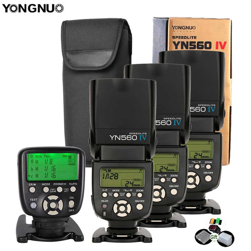 Yongnuo YN560IV Speedlite 2.4G kablosuz radyo Master Slave flaş YN560 IV DSLR kamera Canon Nikon Sony Pentax Olympus fuji