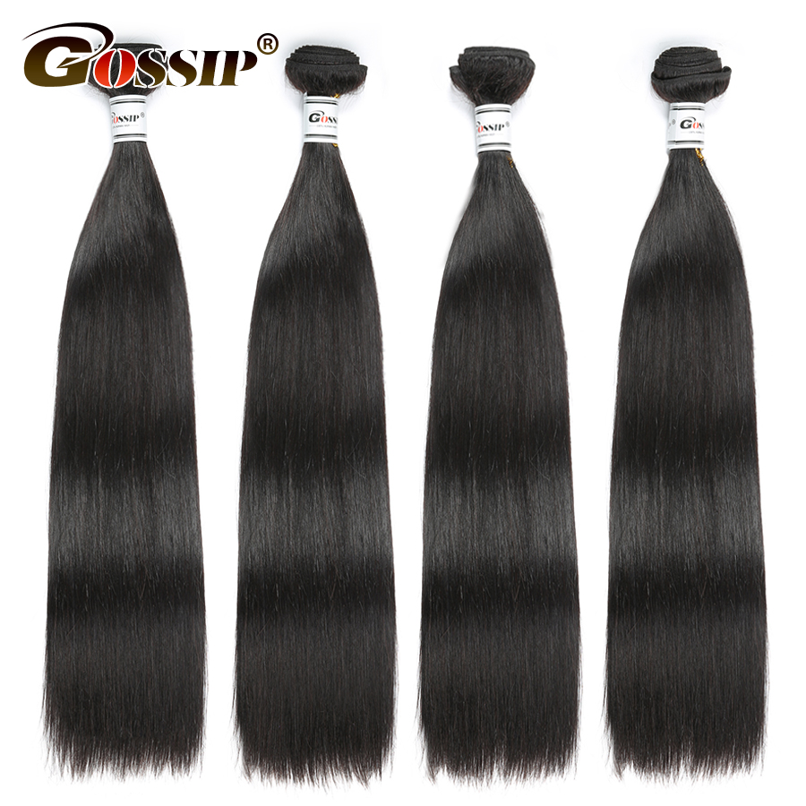 Non Remy Straight Hair Bundles Malaysian Hair Extension 100% Human Hair Bundles Deal 8-28