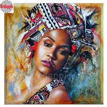 Diamond Painting abstract art Diamond embroidery people African woman 5d diy full square diamond mosaic diamond paint girl decor(China)