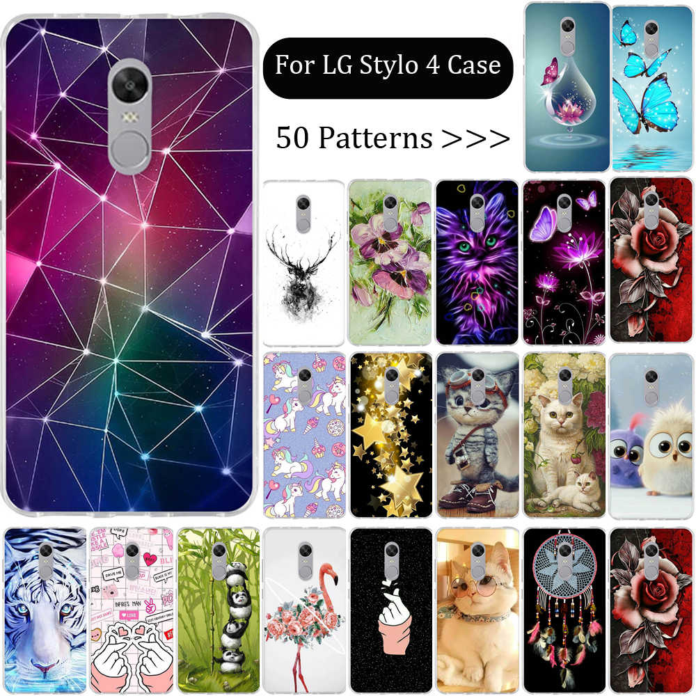Untuk LG Stylo Kembali Cover Untuk LG Stylo 4 PLUS Kasus Telepon Silikon Tpu Ponsel Cover Untuk LG Q Stylus Plus Stylo 4 Plus Cover