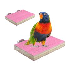 2 Pcs/set Bird Perches Wood Stand Playground Paw Grinding Rope Parrot Cage Climbing Ropes Swing Spiral Standing Toy C63B(China)