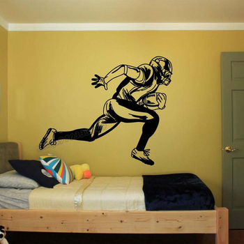 football Athletes Wall decal football Sport svg Motivation Healthy Teamplay Wall Sticker for Bedroom Decor Vinyl Decal B200 1
