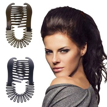 2pcs/set Women Hollywood Large Comb Banana Clip Hair Riser Claw Accessory 2 Colors - discount item  26% OFF Headwear