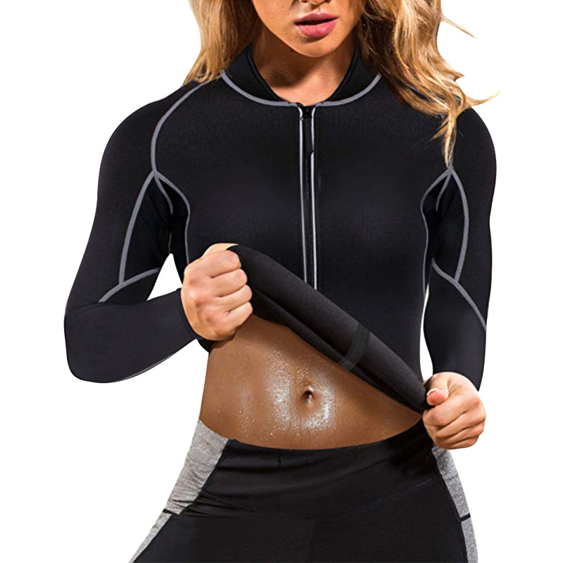 Shirt Sweat Sports Unisex Weight-Loss Gym Fitness Elastic-Fat Black Breathable Running title=