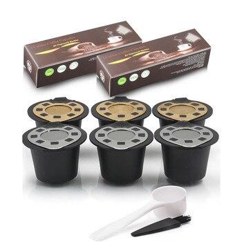 네스프레소 커피 캡슐 포드 필터 바구니 리필 가능 재사용 가능한 에스프레소 커피 필터 컵 카페테리아 de capsulas|bag bag|brush brushbrush for -