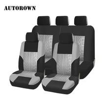 AUTOROWN العالمي غطاء مقعد السيارة s لشركة هيونداي تويوتا ميتسوبيشي كيا غطاء مقاعد سيارة من البوليستر غطاء مقعد سيارة التصميم غطاء مقعد السيارة
