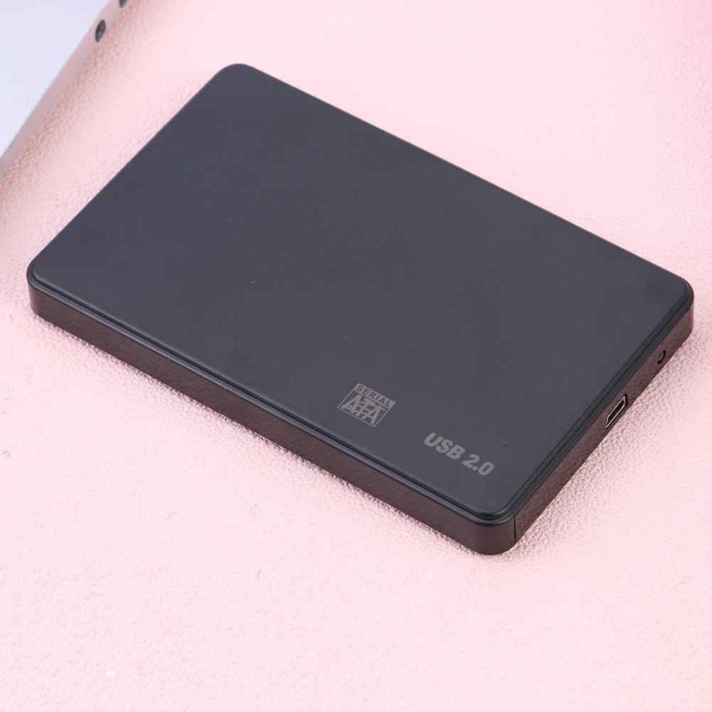 Caja de unidad del disco duro de 2,5 pulgadas, portátil, SATA USB2.0, herramienta libre, disco SSD HDD, caja externa de 2,5 pulgadas, carcasa de disco duro para PC