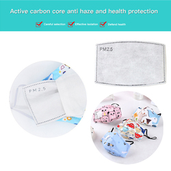 Children's Mask With Valve Pure Cotton Anti-fog Haze Child Filter Mask Filter Mask n95 Breathing Valve Cartoon Activated Carbon 6