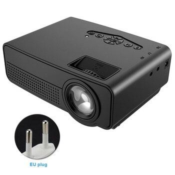 Entretenimiento reproductor multimedia luz LED Mini proyector con Control remoto TV para teléfono inteligente ver película 1080P Home Theater