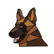 Deutsch Shepherd Pin Hund Pin Weiche Emaille Niedrigen Poly Geometrische 3D(China)