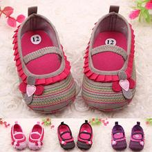 Toddler Infant Baby Girl Flower Shoes Crib Prewalker Newborn To 18 Months Babyshoes