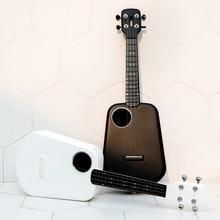 2 LED Smart Soprano ukulele concert millet Bluetooth ukulele 4 string 23 inch white electric guitar Uke kmise tenor ukulele mahogany ukelele 26 inch uke aquila string 4 string hawaii guitar