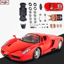 Maisto 1:24  Ferrari-Enzo 8 styles Ferrari assembled alloy car model DIY toy tool boy gift collection
