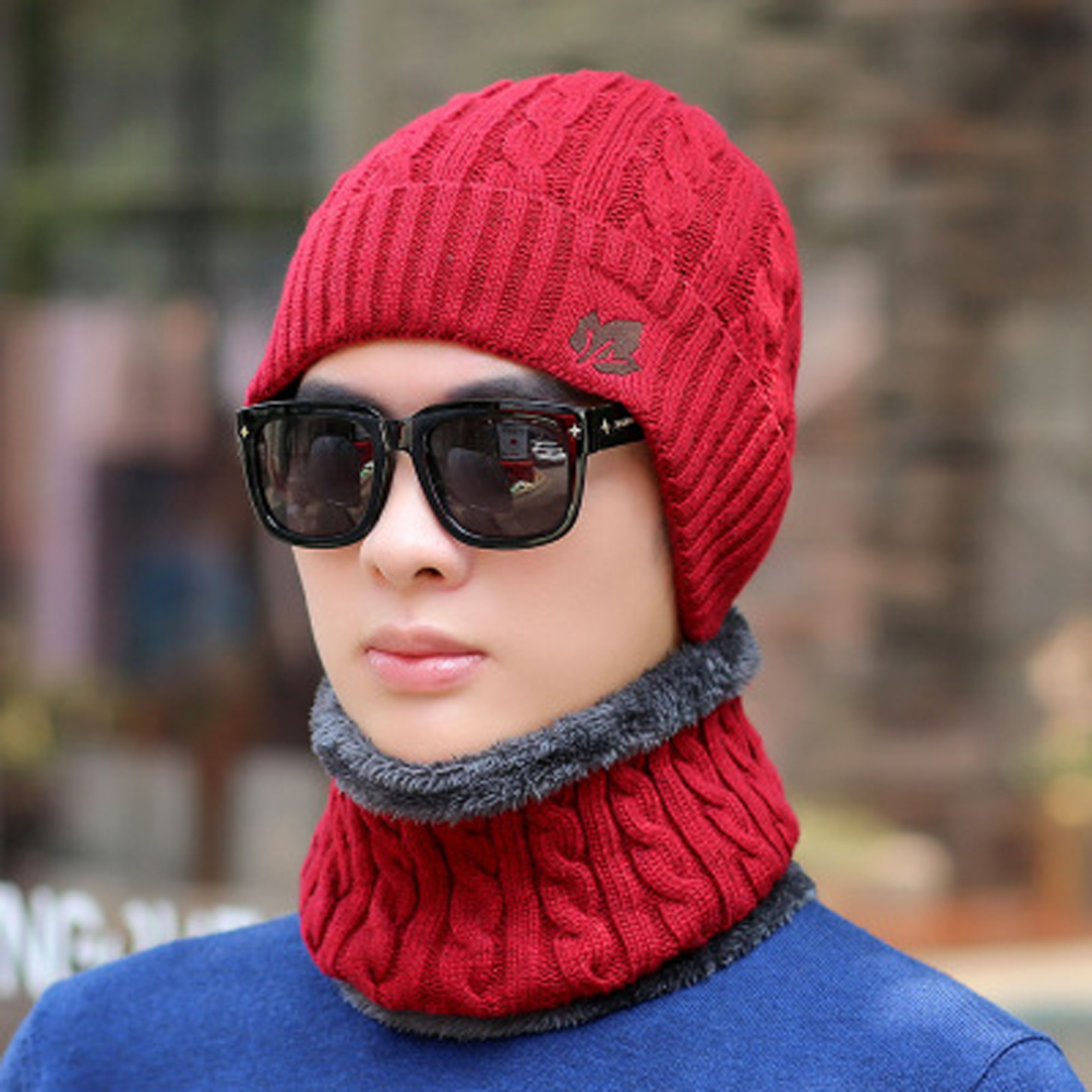 Hot Fashion Men Women Winter Beanie Hat Scarf Set Ladies New Knitted Warm Snow Skull Cap Scarf