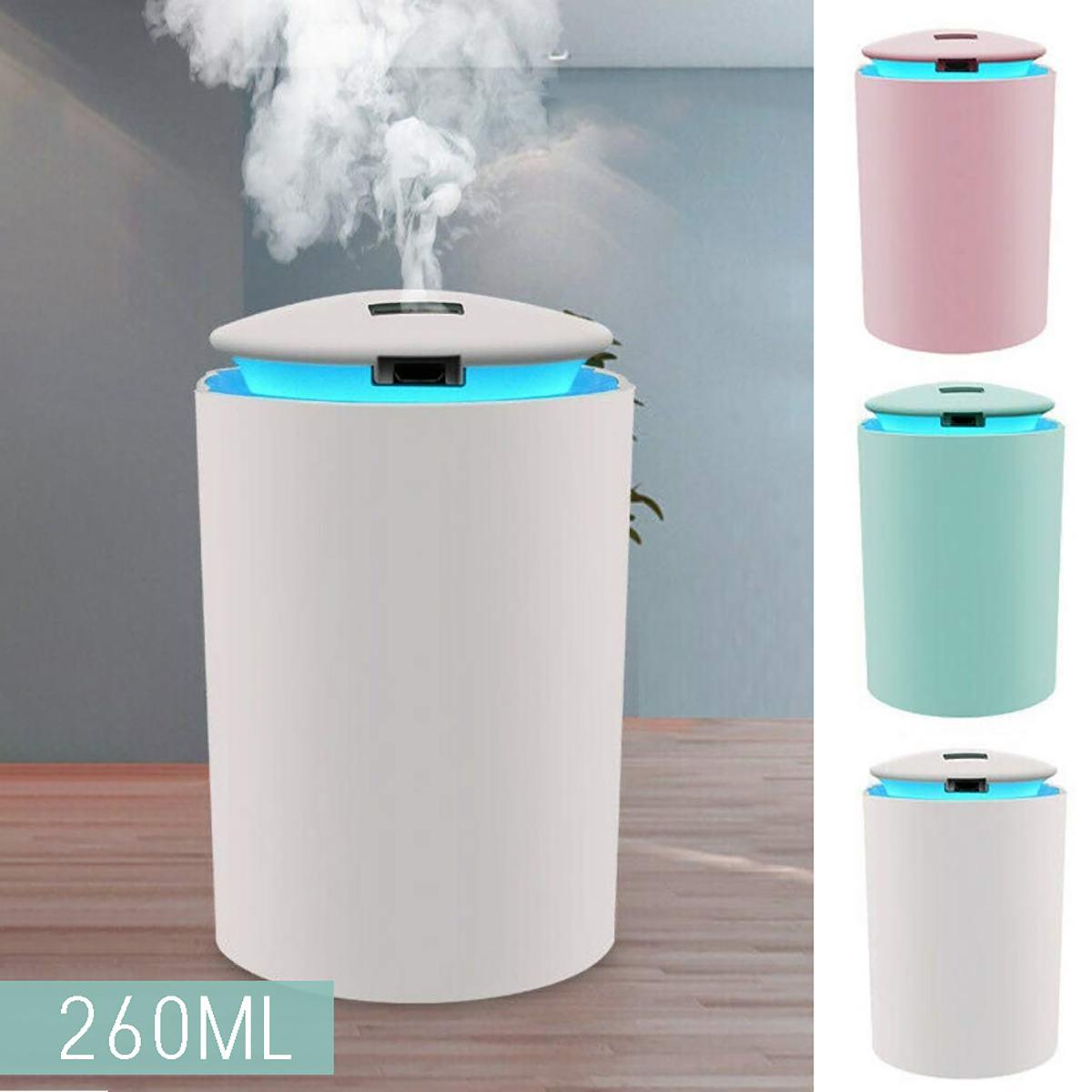 260ML Mini Ultrasonic Air Humidifier Romantic Soft Light USB Essential Oil Diffuser Car Purifier Aroma Anion Mist Maker