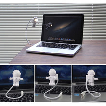 Draagbare Lezen LED USB-Spaarlamp Voor Notebook Mobile Power Emergency Lamp USB Astronaut LED Nachtlampje(China)