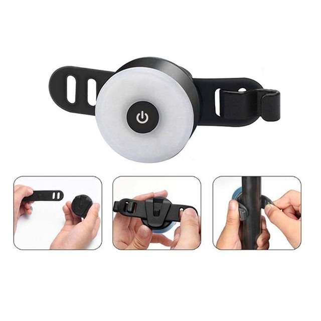Mini LED Bicycle Tail Light Usb Chargeable Bike Rear Lights IPX5 Waterproof Safety Warning Cycling Light