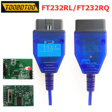 Ftdi ft232rl ft232rq chip para fiat para vag 409 kkl auto obd2 interface de diagnóstico para vag kkl 409 compatível para fiat ecu varredura