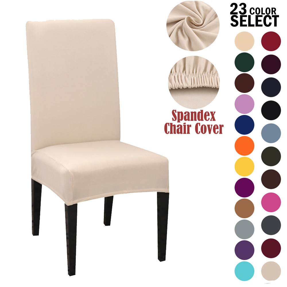 1/2/4Pcs Solid Color Modern Plain Chair Cover Spandex Stretch Elastic Chair Covers Seat Cover For Dining Hotel Wedding Banquet