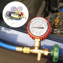 R134a R22 Automobile Refrigerant Charging Gauge Diagnostic Tool Car Air Conditioning Refrigerant Pressure Gauge Car Repair Tool