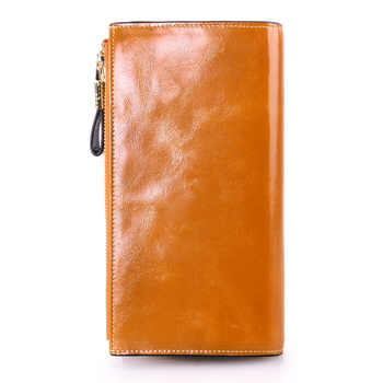 New Women\'s Leather Wallet Long Women\'s Large Money Clip Men\'s Wallet
