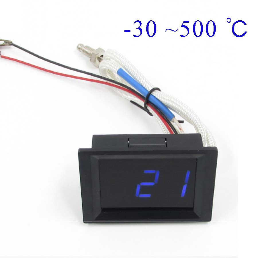 -30 ~ 500 Celsius Degree Thermometer High Temperature Thermometer Powered DC 8-14V AC 110-240V
