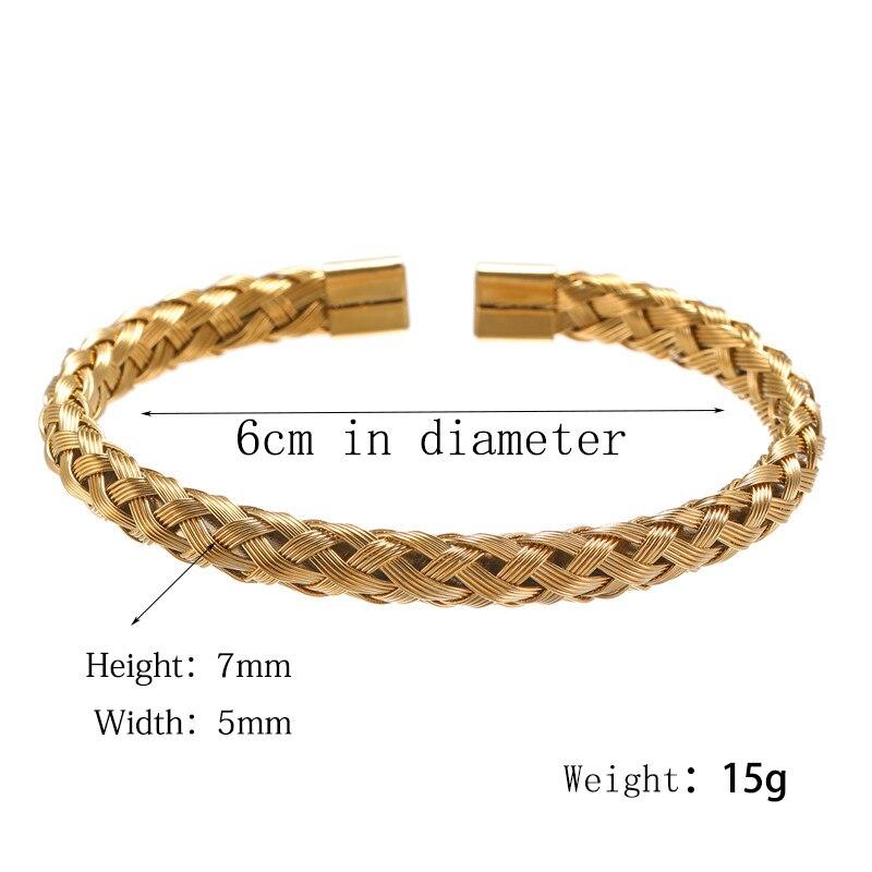 Bracelet Or/acier inoxydable titane hommes 2
