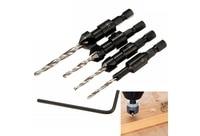 4 個木材木工 5 フルート HSS 皿ドリルビットセット大工ツール 6 12 #|木材穴あけ機械|   -