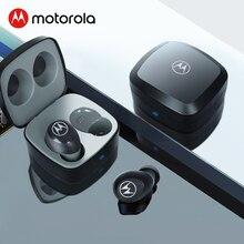 Motorola Bluetooth 5 Stereo Kopfhörer Wahre Drahtlose Ohrhörer 14H Spielen Zeit Wasser Widerstand Touch Control Smart Stimme Assistent